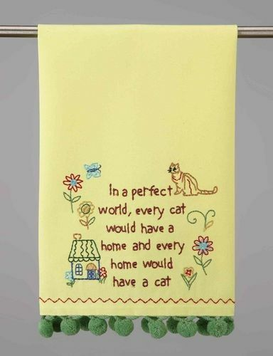 Every Cat Would Have A Home Kitchen Towels Peking Handicrafts