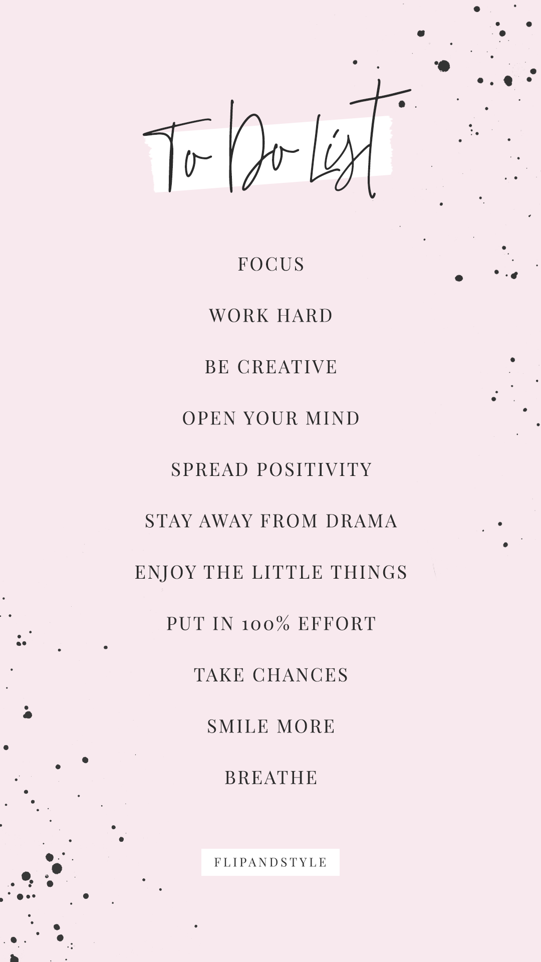 To Do List Goals Positive Quotes