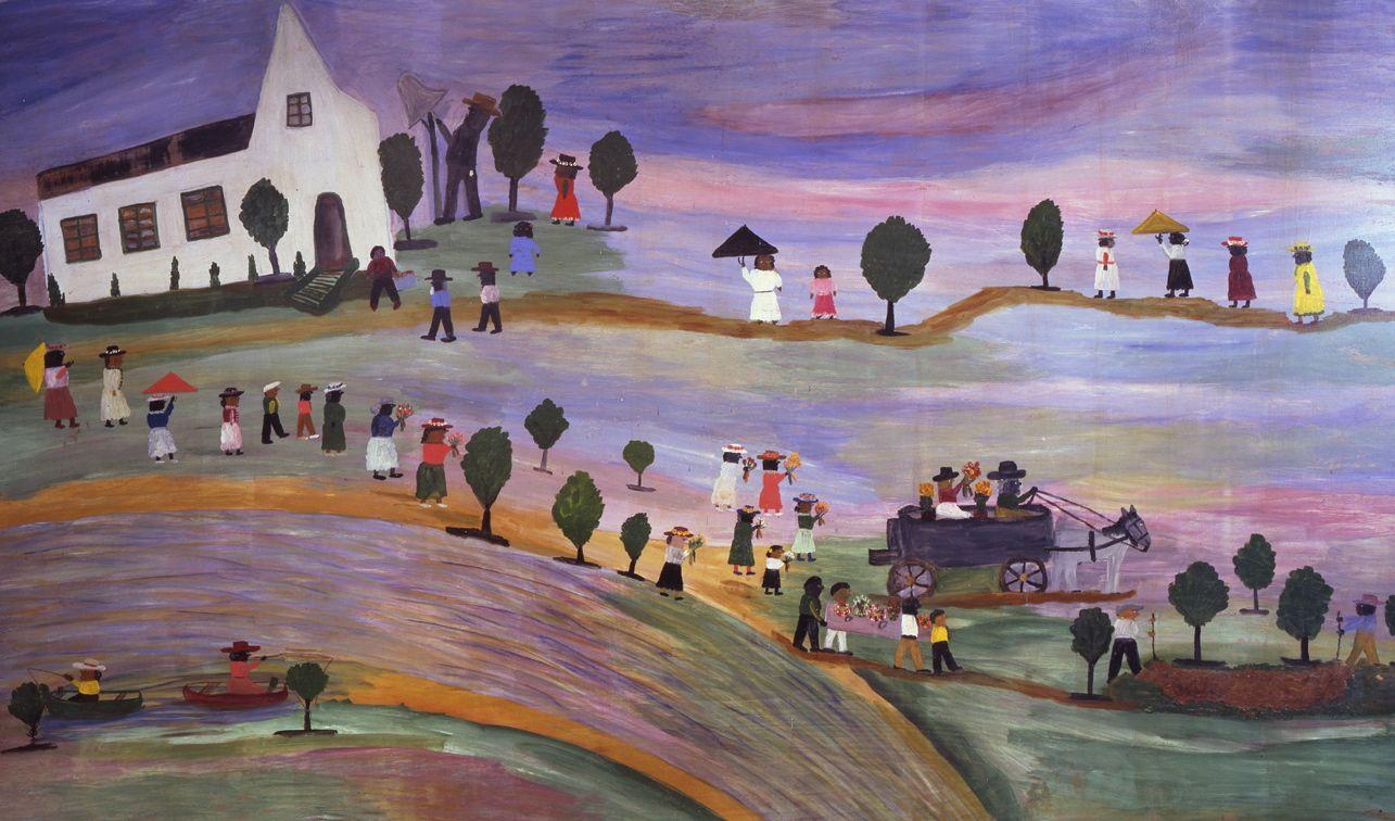 Mural At The African House Art From Her Heart Folk Artist