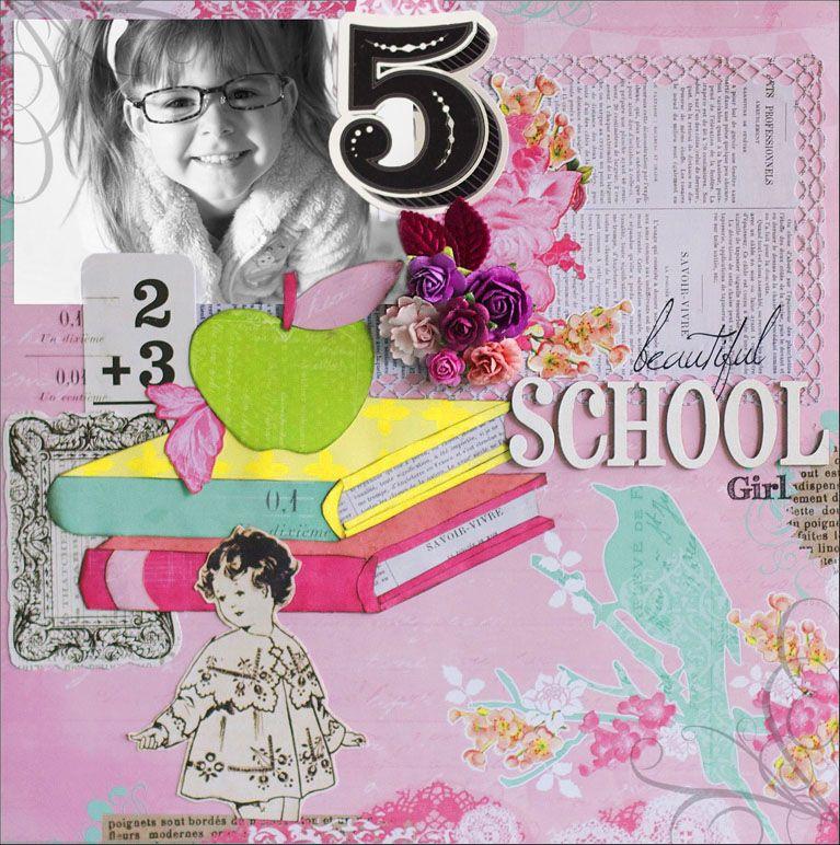 Apple of My Eye: Back to School Layout — Pink Paislee