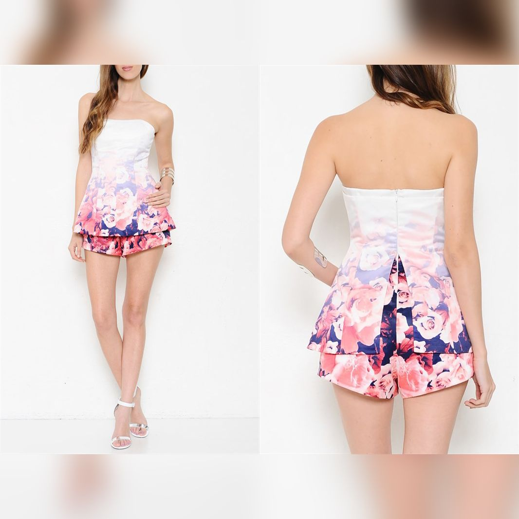 STUDIOL9   Ombre Rose Romper Dress - Trendy is the last stage before tacky! http://www.studiol9.com/#!product-page/c6np/64f6e375-d60c-7fbb-3f3d-fd5a8a113f01