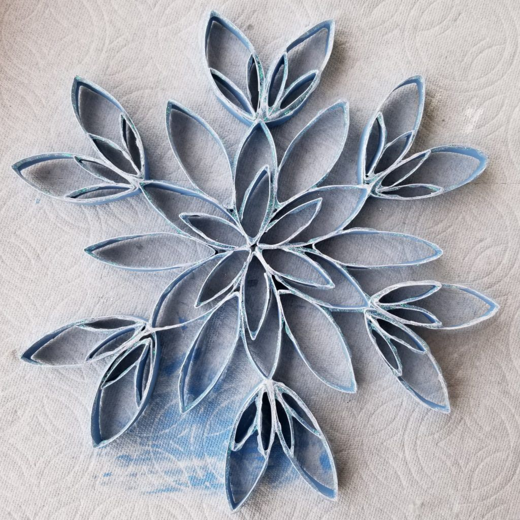 Photo of Toilet Paper Roll Snowflake | Winter Crafts | Woli Creations