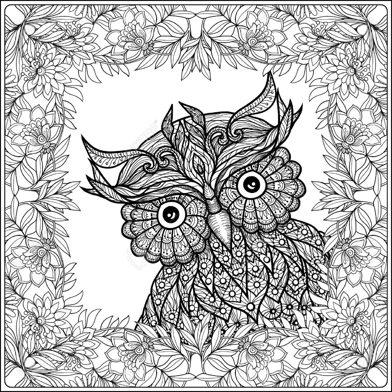 pin von linda thielges auf coloring owl  malvorlage eule