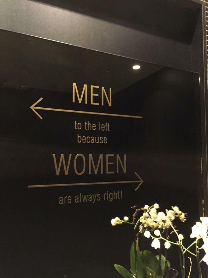 Creative Signage, Men, Left, and Women image ideas & inspiration on Designspiration