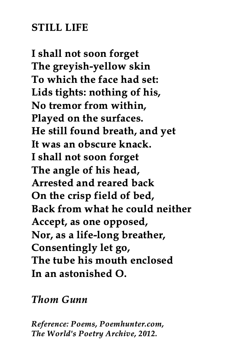 Thom Gunn British Poet Poetry Life The Sun Rising Analysi John Donne