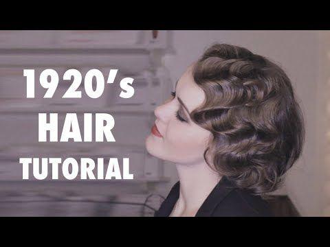 Wasserwelle Anleitung Tutorial - 20er Jahre Frisur - YouTube #hairtutorials