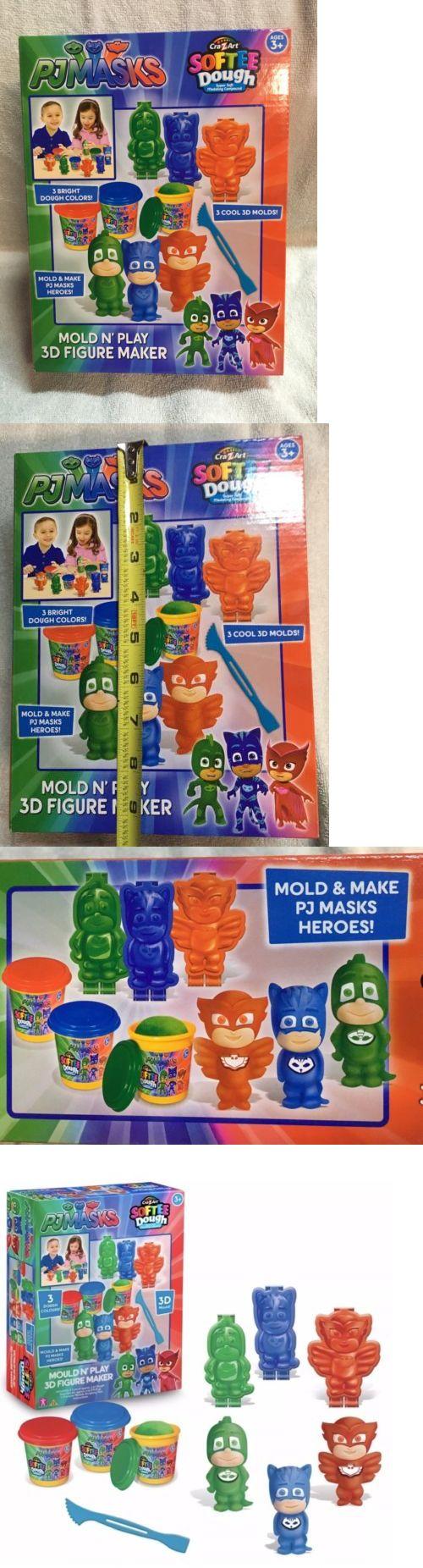 cra-z-art pj masks softee dough 3d maker action figure mold n play