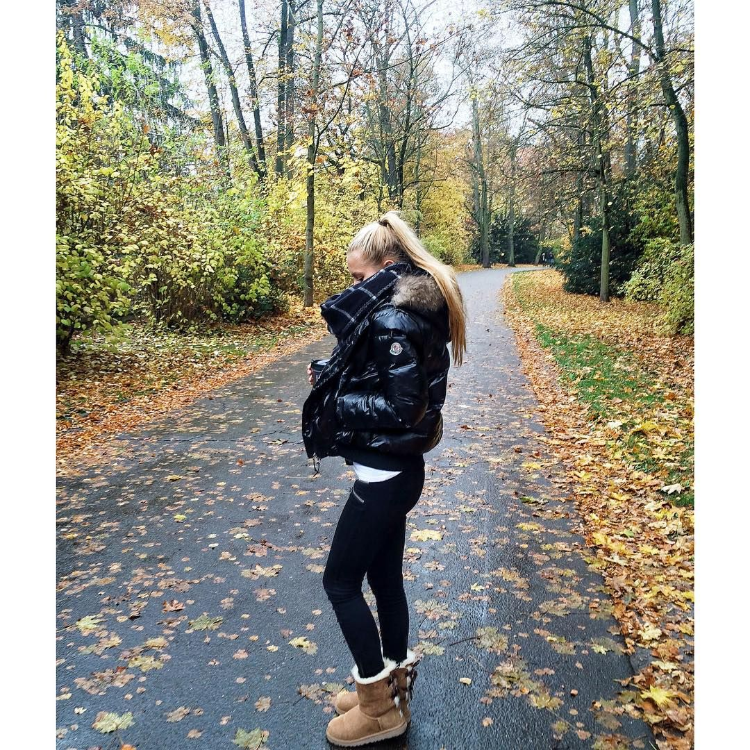 990135dcac8 Moncler down jacket and UGG boots | Fashion | Ugg fur boots, Ugg ...