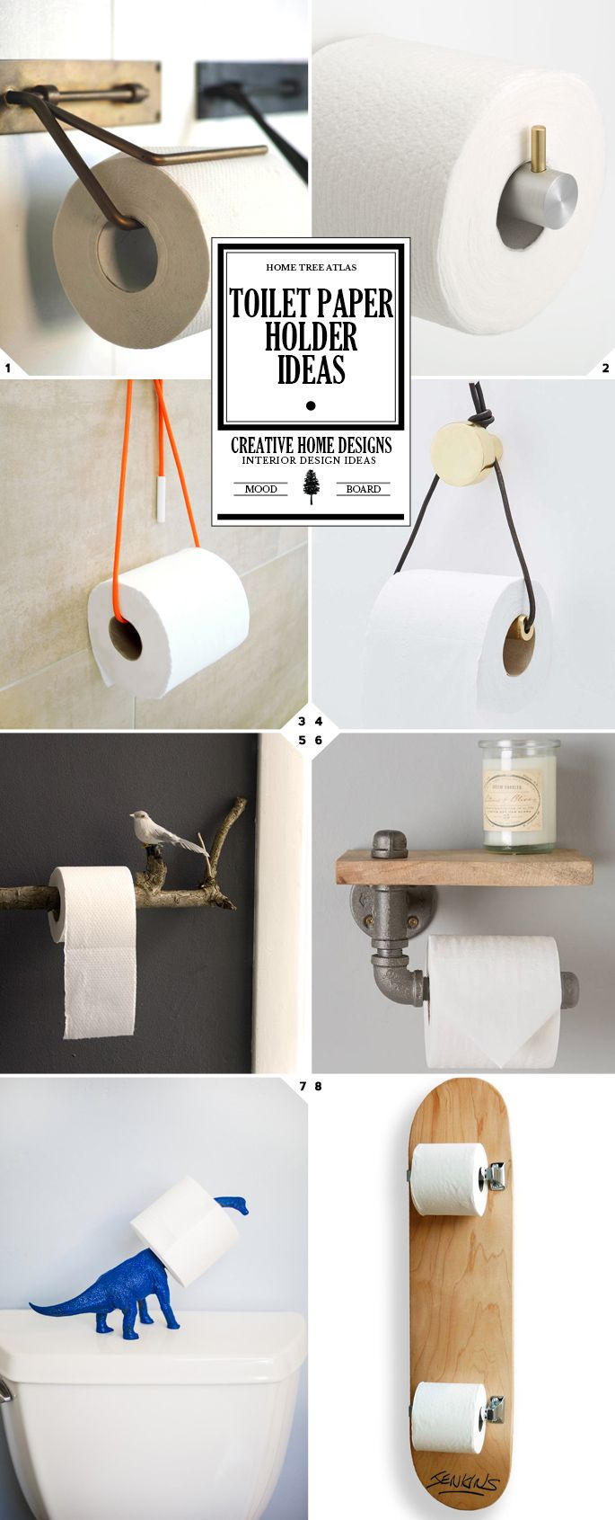 Here Is A Gallery Of Different Toilet Paper Holder Ideas You Have