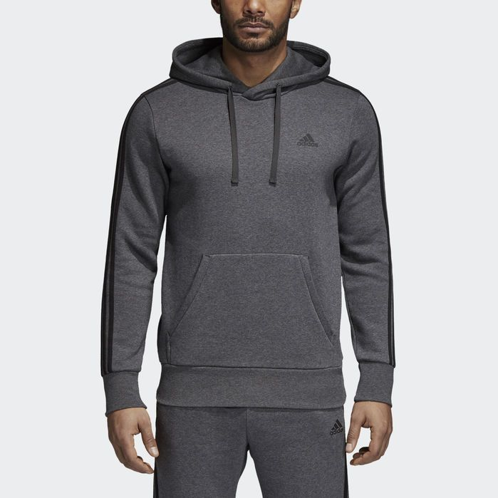 Essentials Heather Piqué Pullover Hoodie in Trace Green