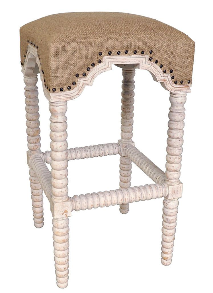 Excellent Rustic Nailhead Bar Stools Abacus Barstool Burlap Seat Beatyapartments Chair Design Images Beatyapartmentscom