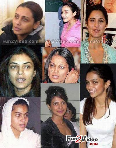 actors actresses without makeup Bollywood and