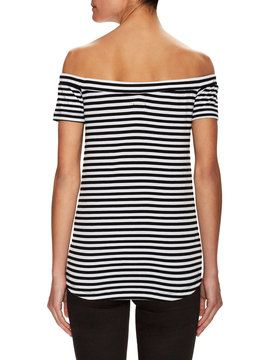 Off The Shoulder Striped Top from Everything Under $50 on Gilt
