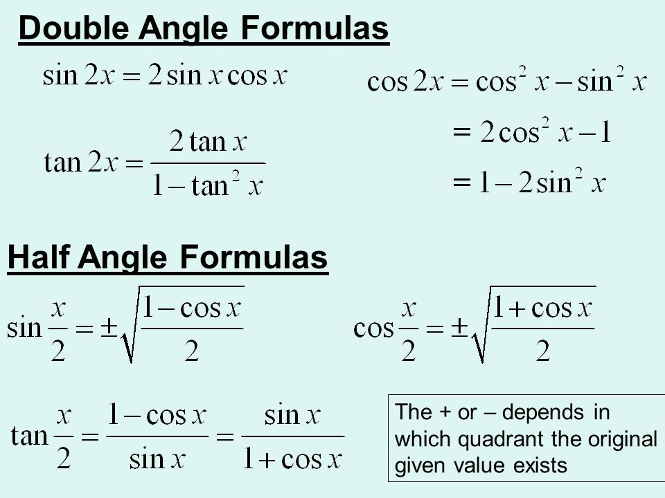 Ch 55 multipleangle and producttosum formulas ppt