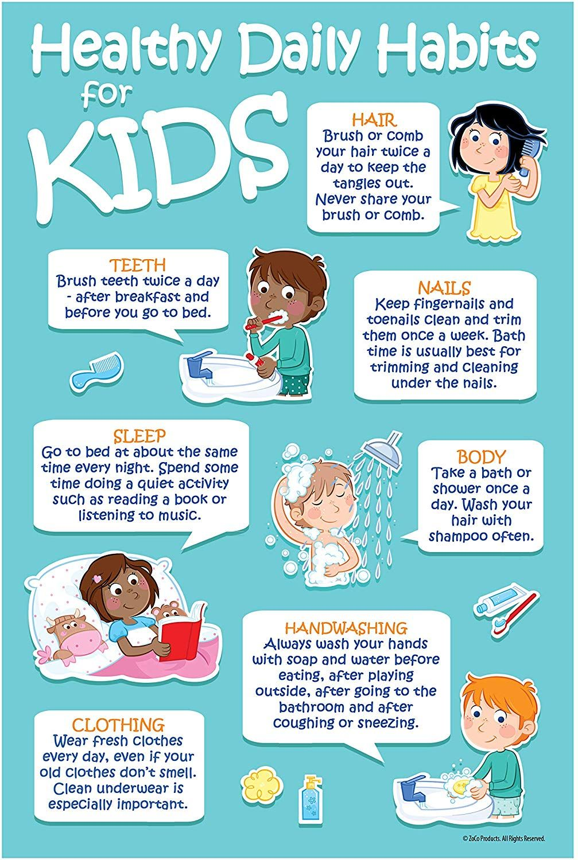 Healthy Kids Habits. Healthy Kids - Happy Kids in 2020 | Healthy habits preschool, School nurse ...