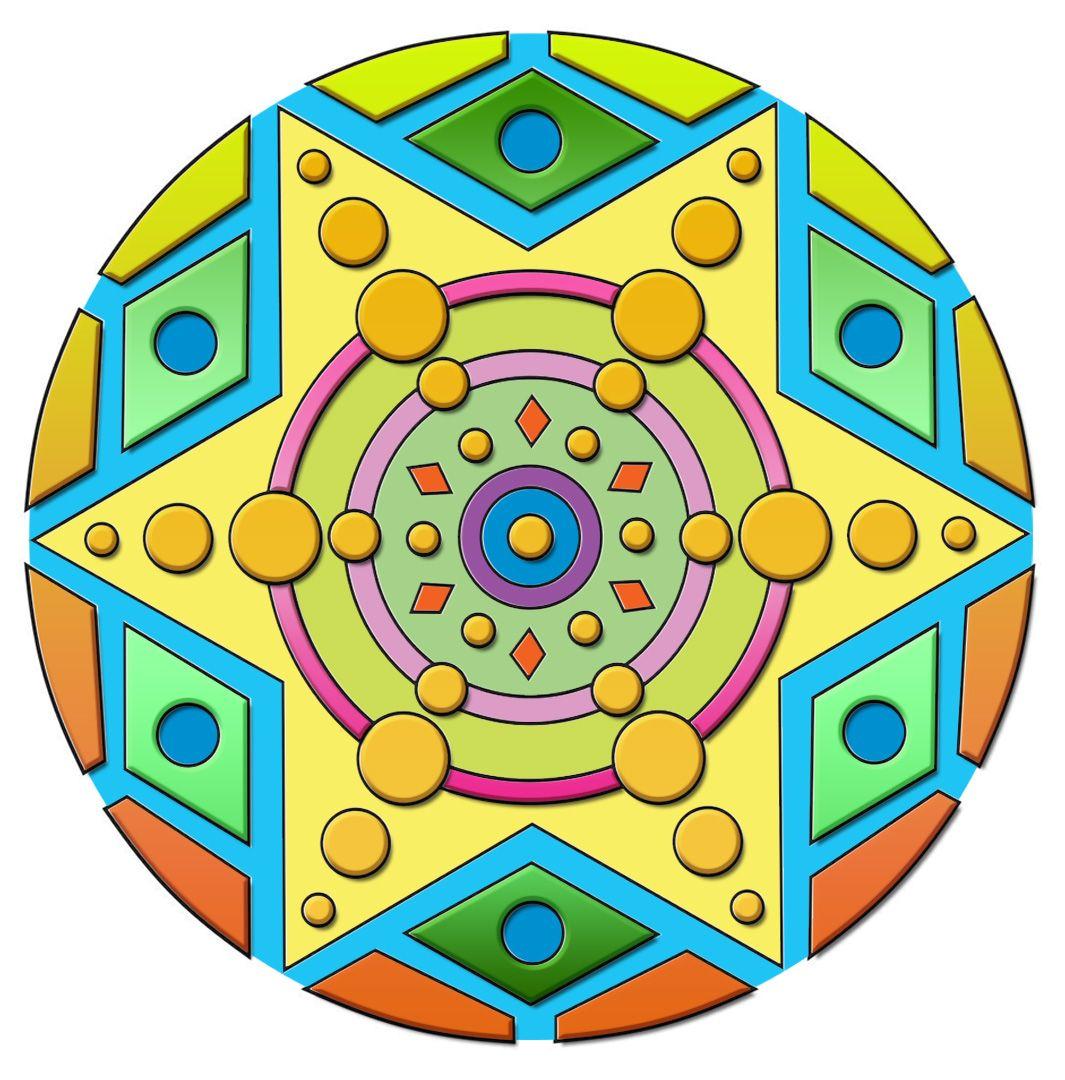 Mandala en Kids rugs, Decor, Mandala