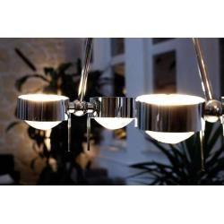 Top Light Puk Ceiling Sister Twin Deckenleuchte chrom 4x Linse matt / 4x Glas matt 20cm Led Top Ligh #lightbedroom