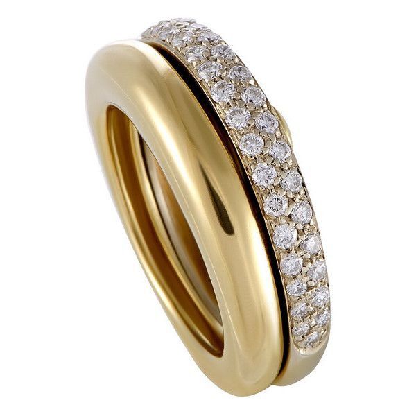 cartier 18k twotone 050 ct tw diamond ring brl liked on polyvore featuring jewelry rings jewelry u0026 watches nocolor pre owned rings