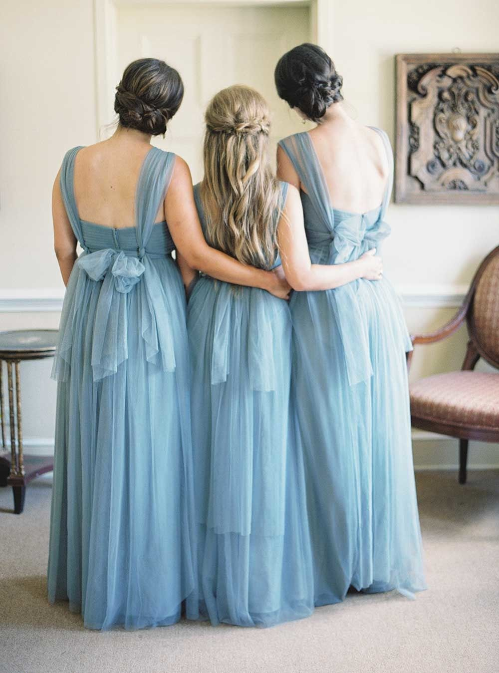 Blue and purple wedding dress  Soft Outdoor Wedding with Southern Charm  weddings bridesmaids