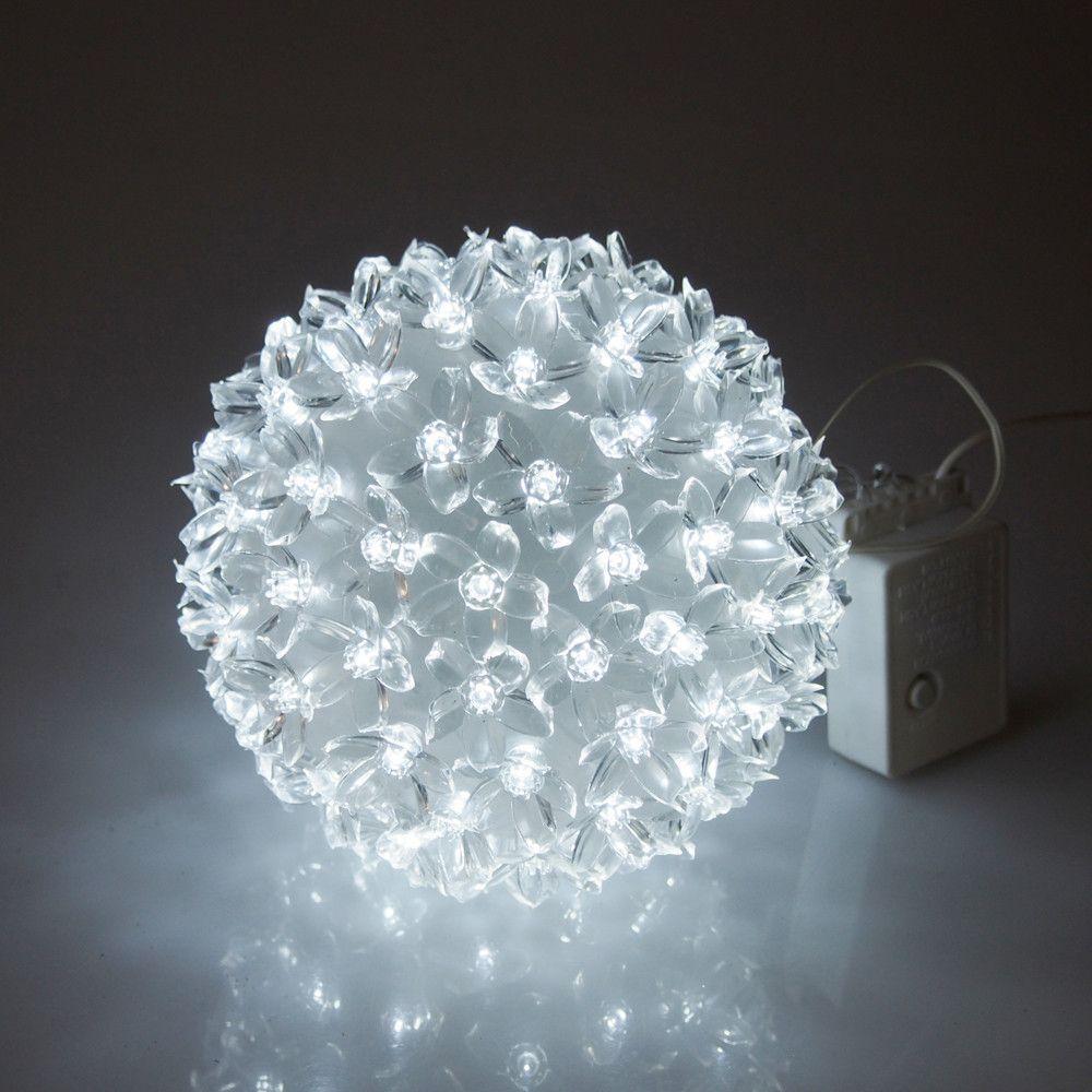 Led Flower Ball Light White Glow Led Flower Ball Lights Flower Ball