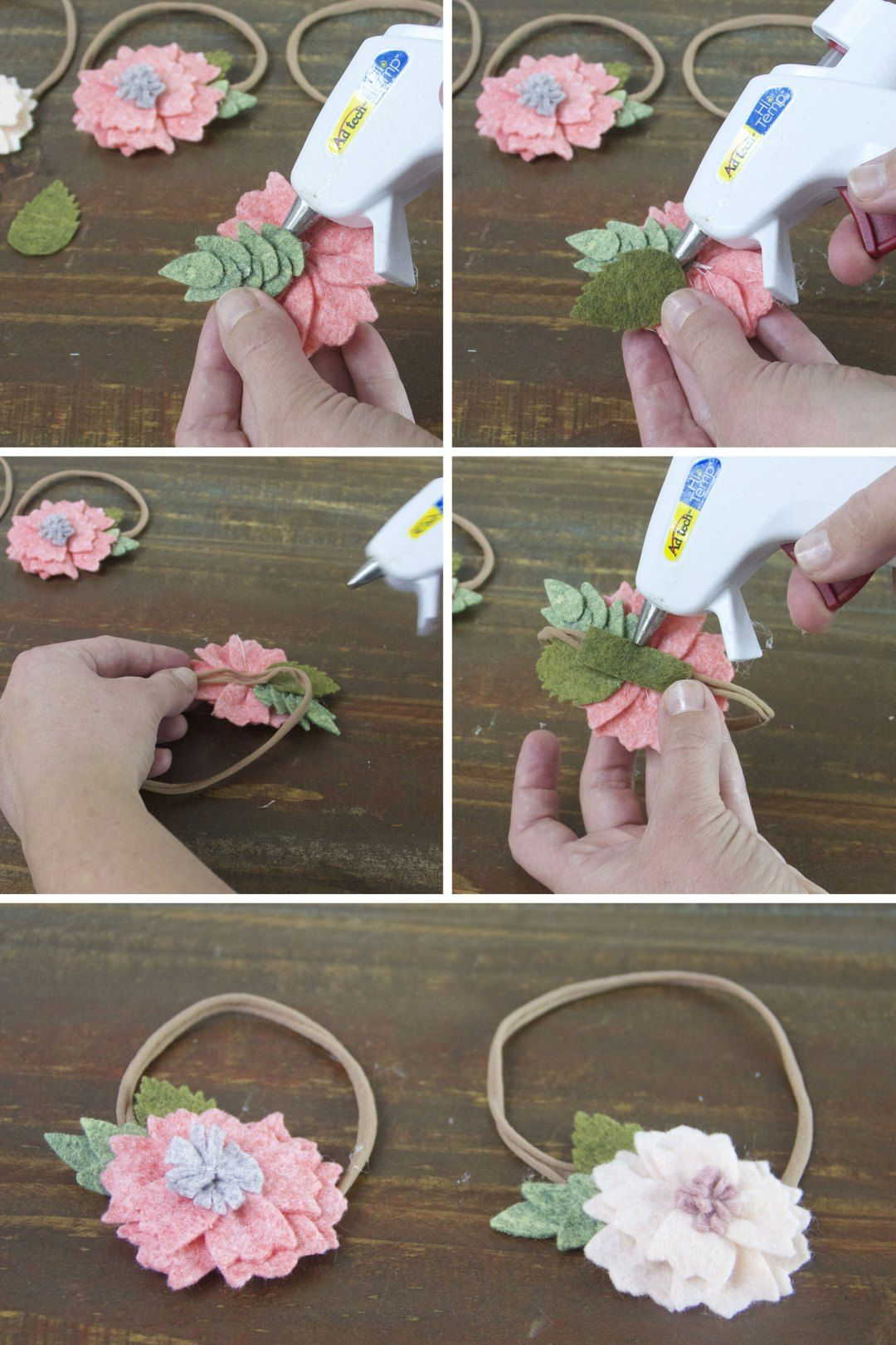 How To Make A Felt Flower Headband #feltflowerheadbands