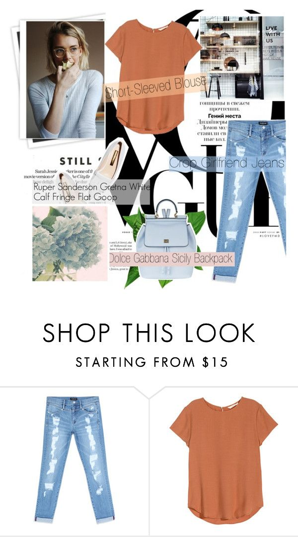 """--Apple--"" by flavia-hajna ❤ liked on Polyvore featuring GALA, Bebe, H&M, Dolce&Gabbana and Rupert Sanderson"
