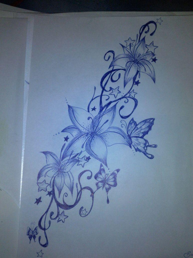 Tattoodesignflowersbutterfliesbybibionxtc d6spkvog 7741032 tattoodesignflowersbutterfliesbybibionxtc d6spkvog 7741032 izmirmasajfo