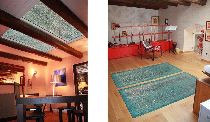 dalle de sol en verre feuillet d coratif crash classica id e escaliers pinterest. Black Bedroom Furniture Sets. Home Design Ideas