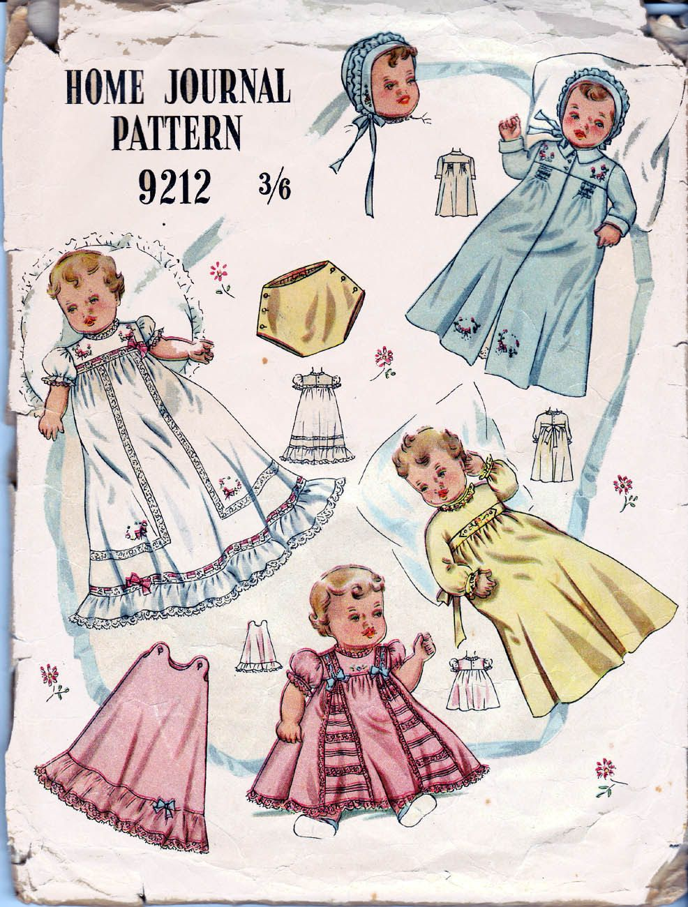 RARE 50s Vintage Baby Layette Pattern with embroidery transfer ...