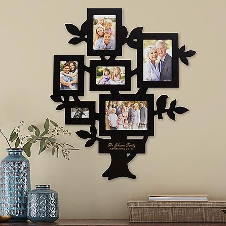 4f50a29488 Family Tree Wall Hanging - A Personal Creations Exclusive! Create a radiant  tree of everyone you love with this handsome black frame.