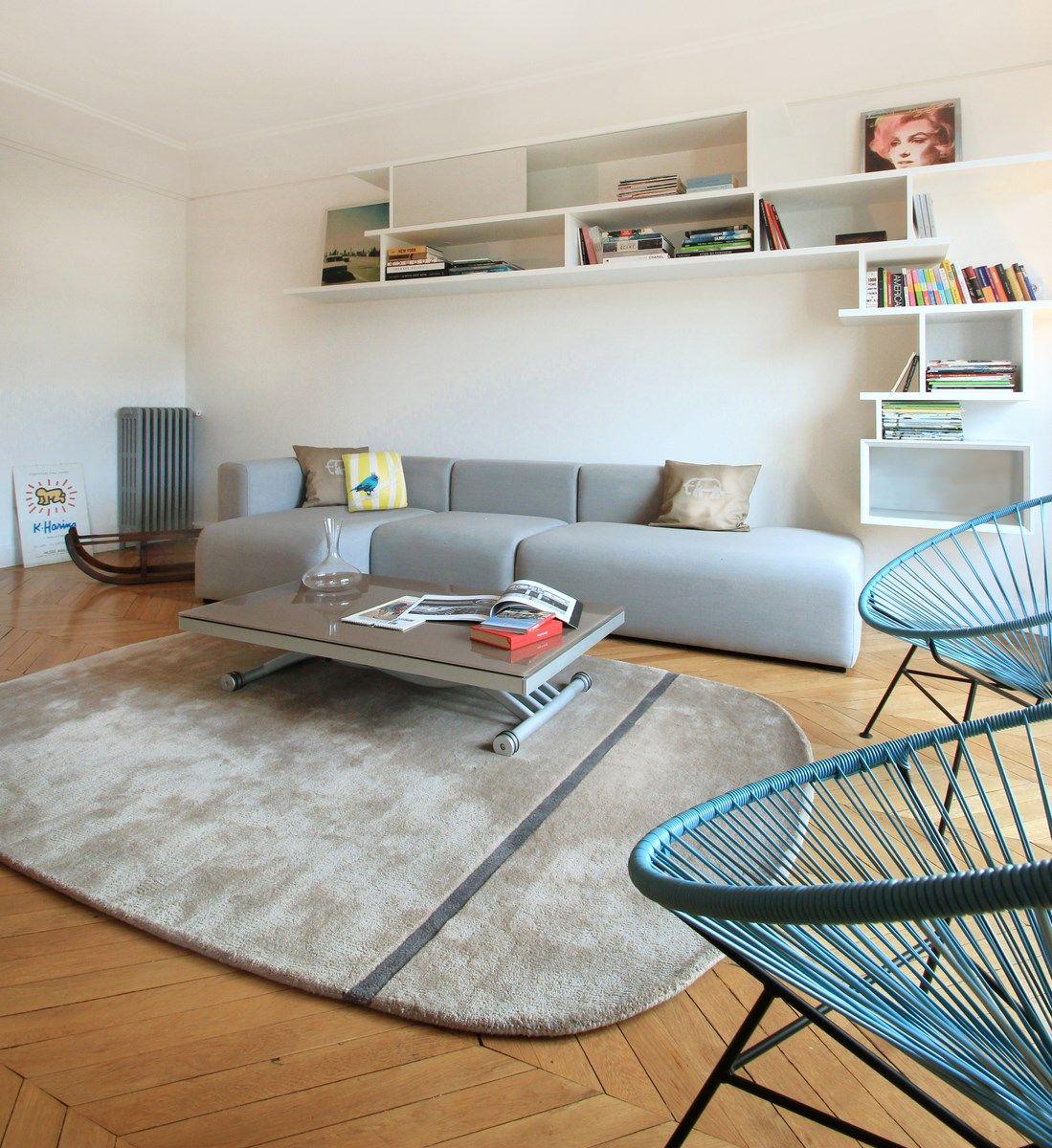 Design Nordique Double Sejour Art Deco Deco Derriere Canape Decoration Loft Deco
