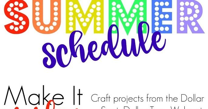 Our Weekly Summer Schedule