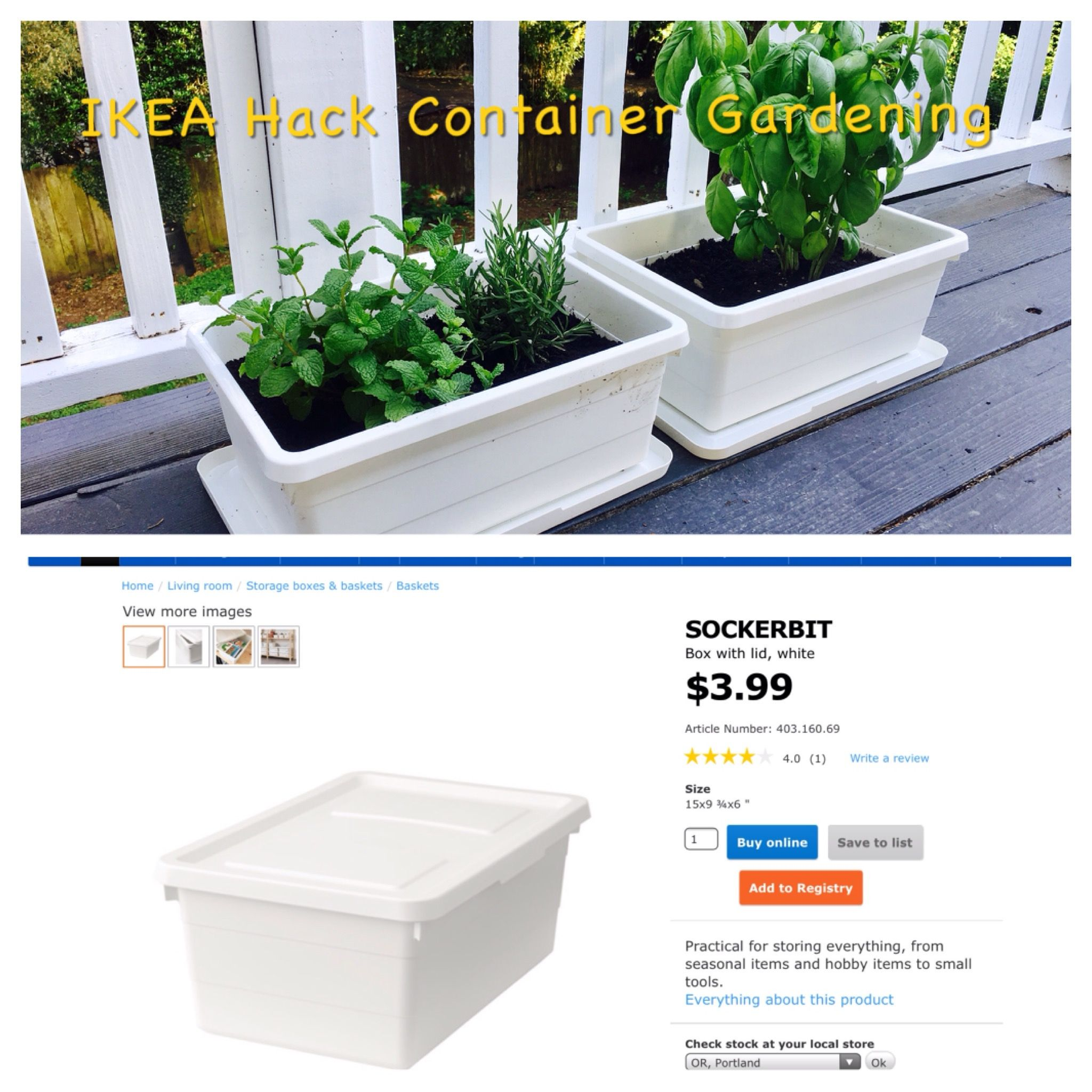 Balkon Teppich Coop Ikea Hack Container Gardening With Sockerbit 3 99 Tubs Drill