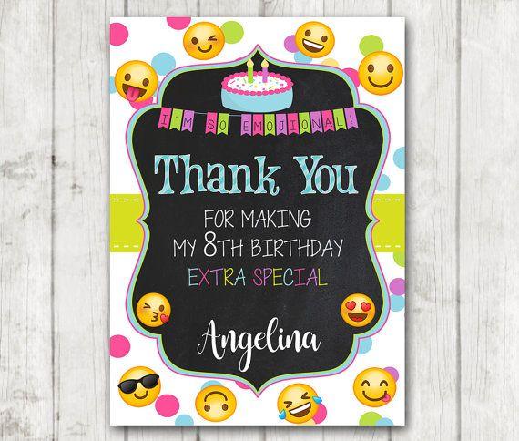 Gracias Emoji para imprimir tarjetas de gracias de Emoji cosas lindas en 2019 Emoji fiesta