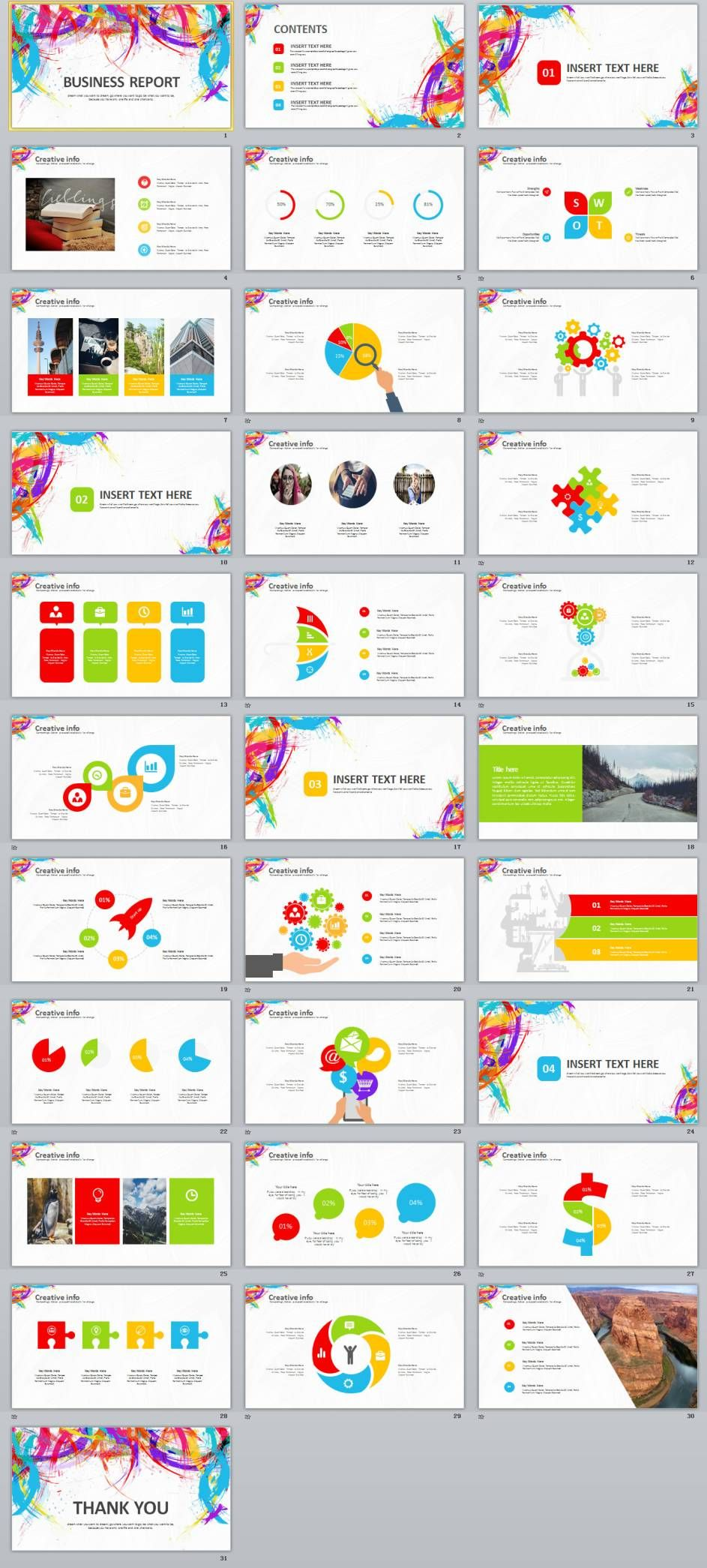 Creative Business Report Powerpoint Template  Jobb