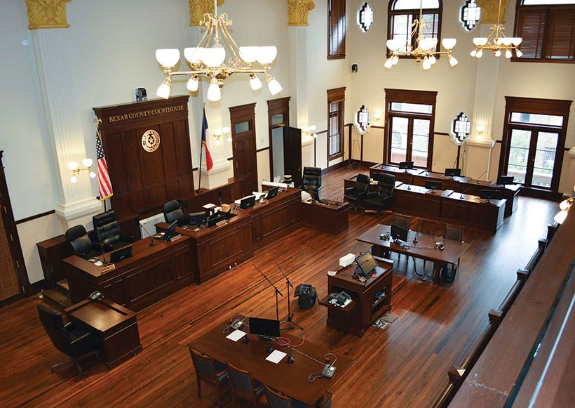 Upping The Bar San Antonio Double Height Courtroom Filled