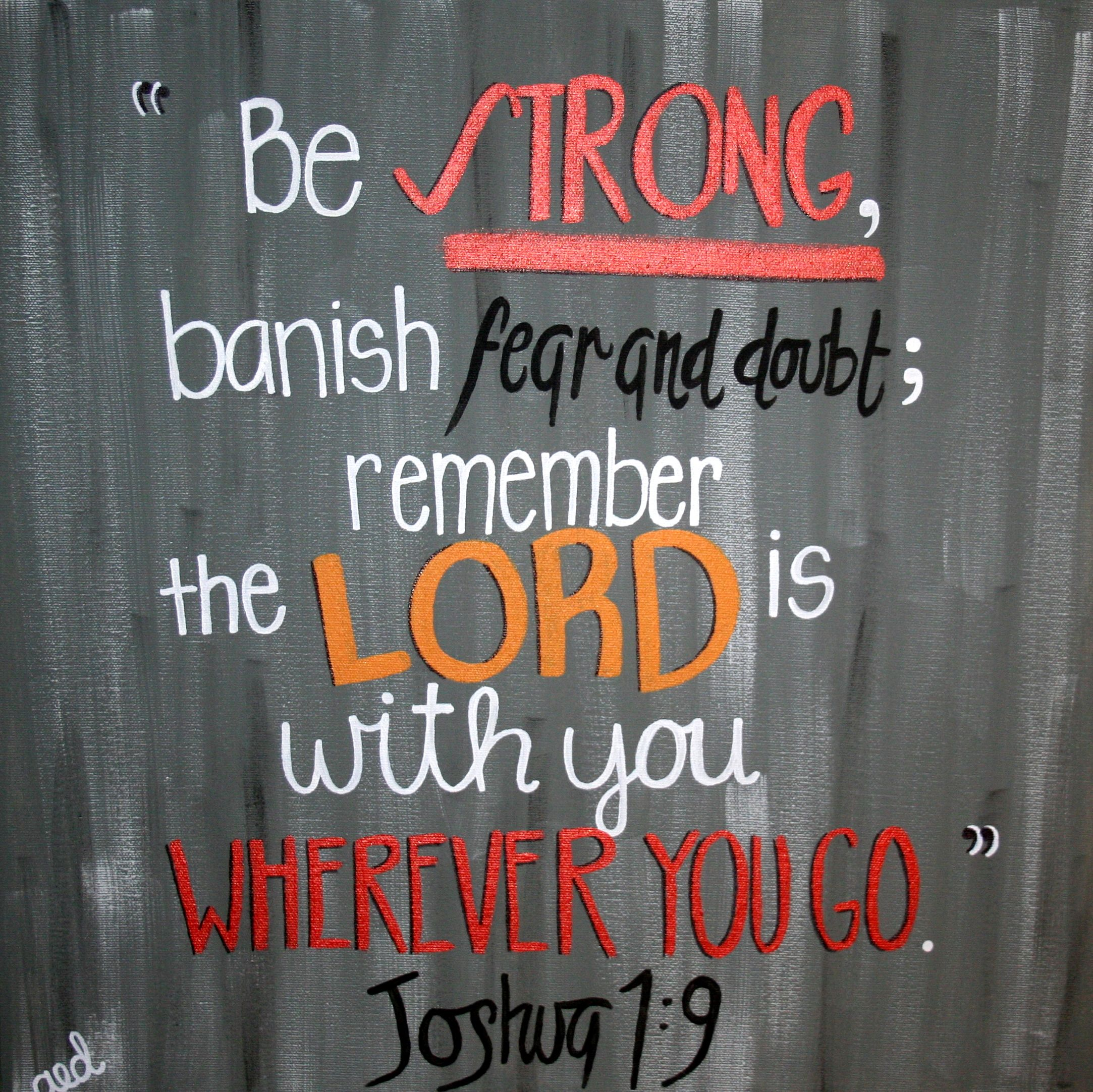 Great Proverbs About Life: Great Bible Verse! Joshua 1:9 :)