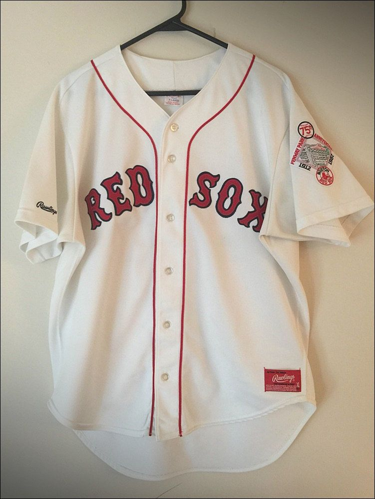 43c17b956 Vintage 80 s Rawlings MLB Boston Red Sox Mike Greenwell Rookie Jersey - Size  XL by RackRaidersVtg on Etsy