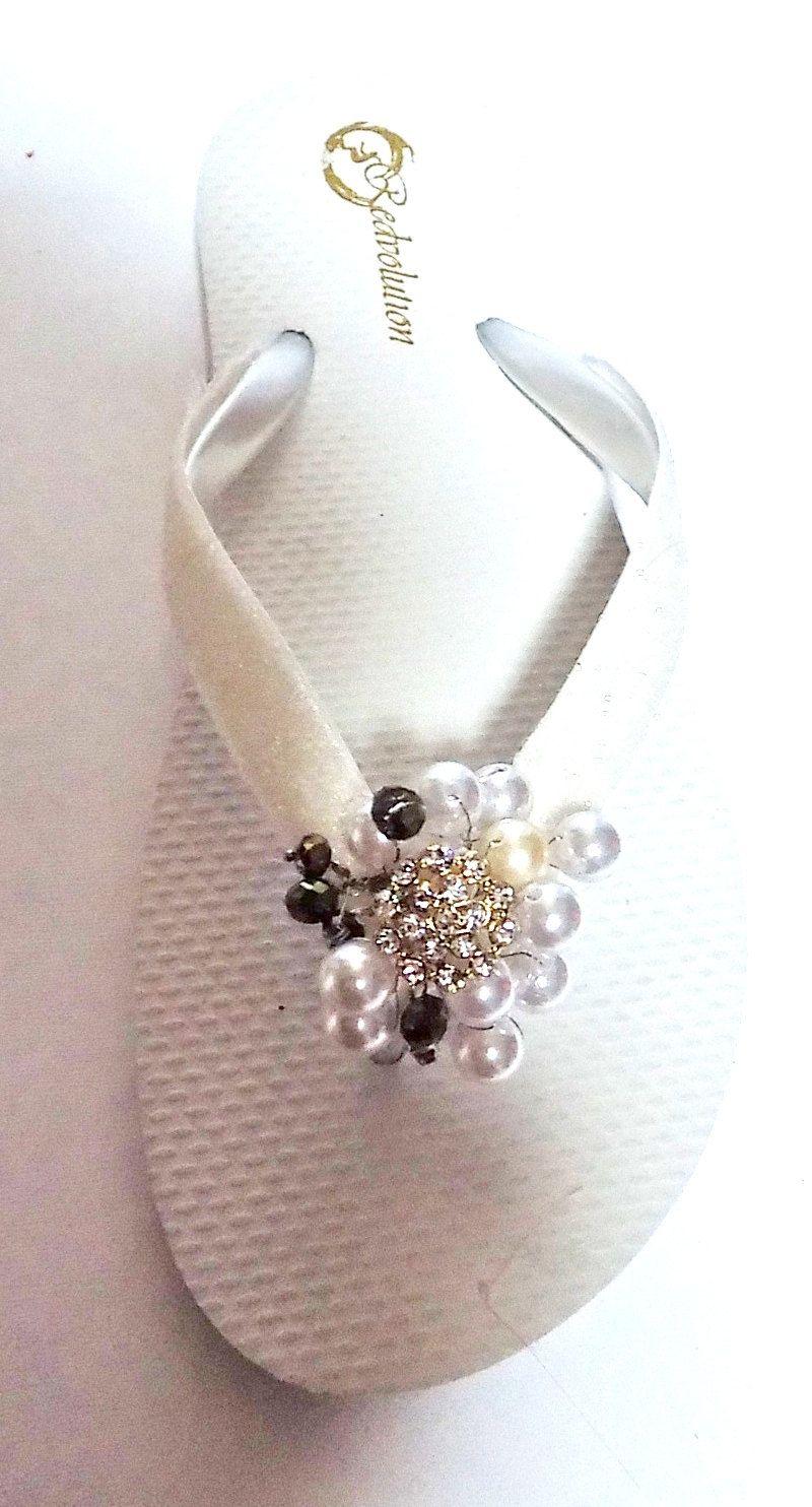 d8206b7eab7cd Bridal Wedding Flip Flops