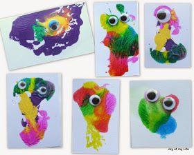 Kids Craft: Valentine Cards: Prehistoric Splotch Creatures #prehistoriccreatures