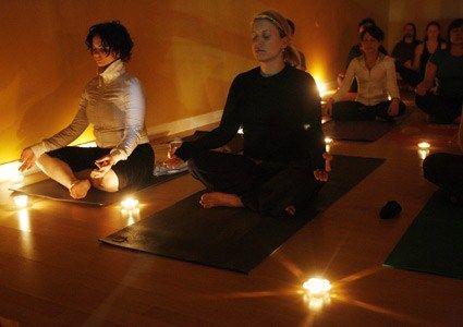 candlelit yin yoga  meditation studio yin yoga yoga studio