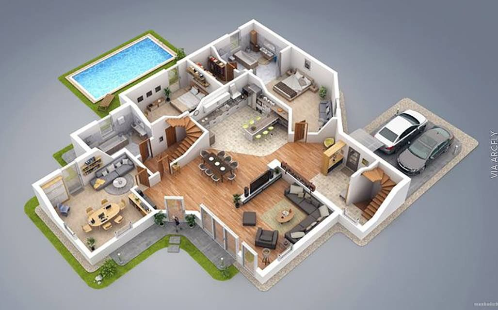 31 Awesome villa floor plan 3d images Plan Pinterest Villas