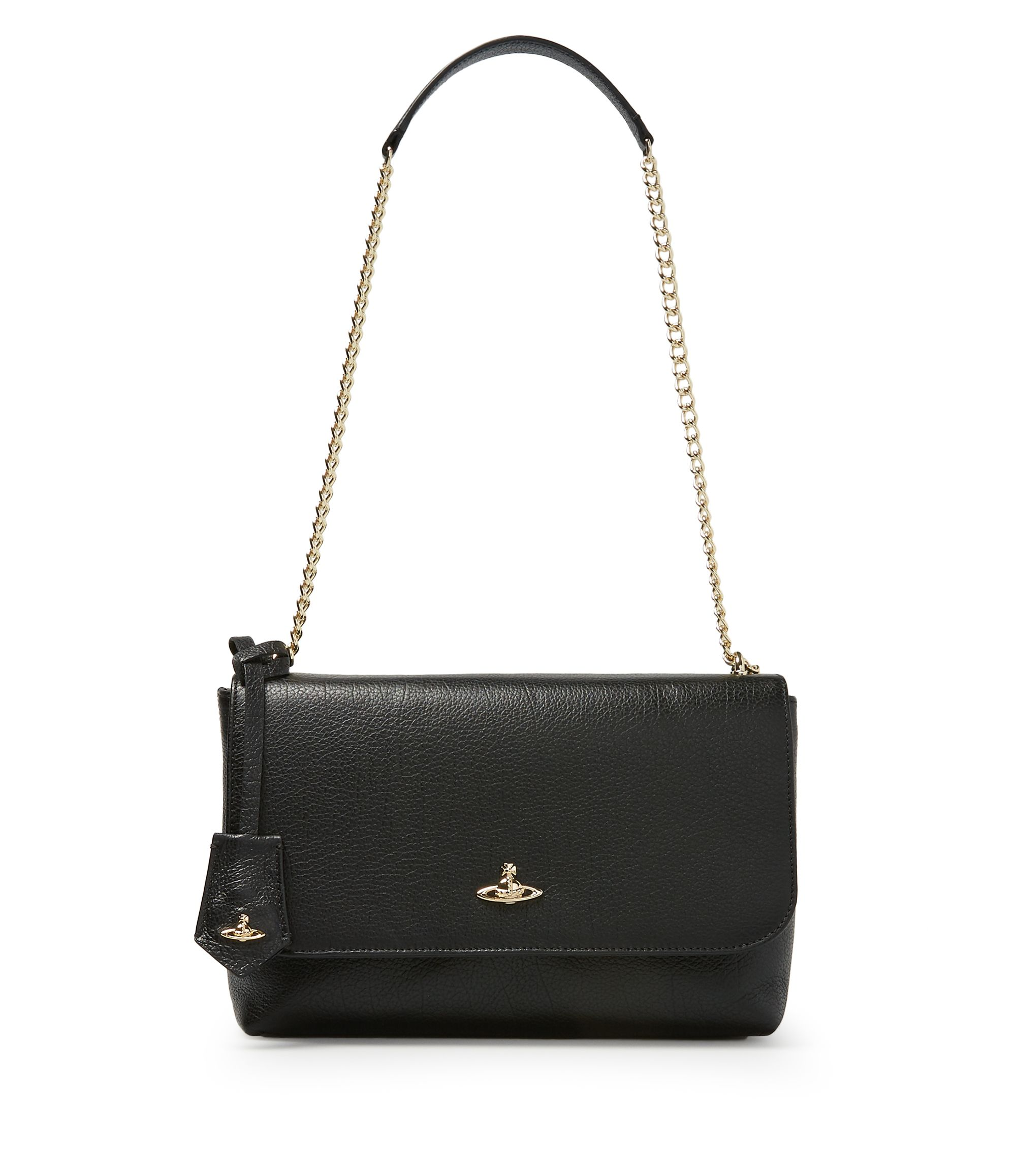 c0a458fe47f7 VIVIENNE WESTWOOD Large Balmoral Bag With Flap 131116 Black.   viviennewestwood  bags  shoulder bags  leather