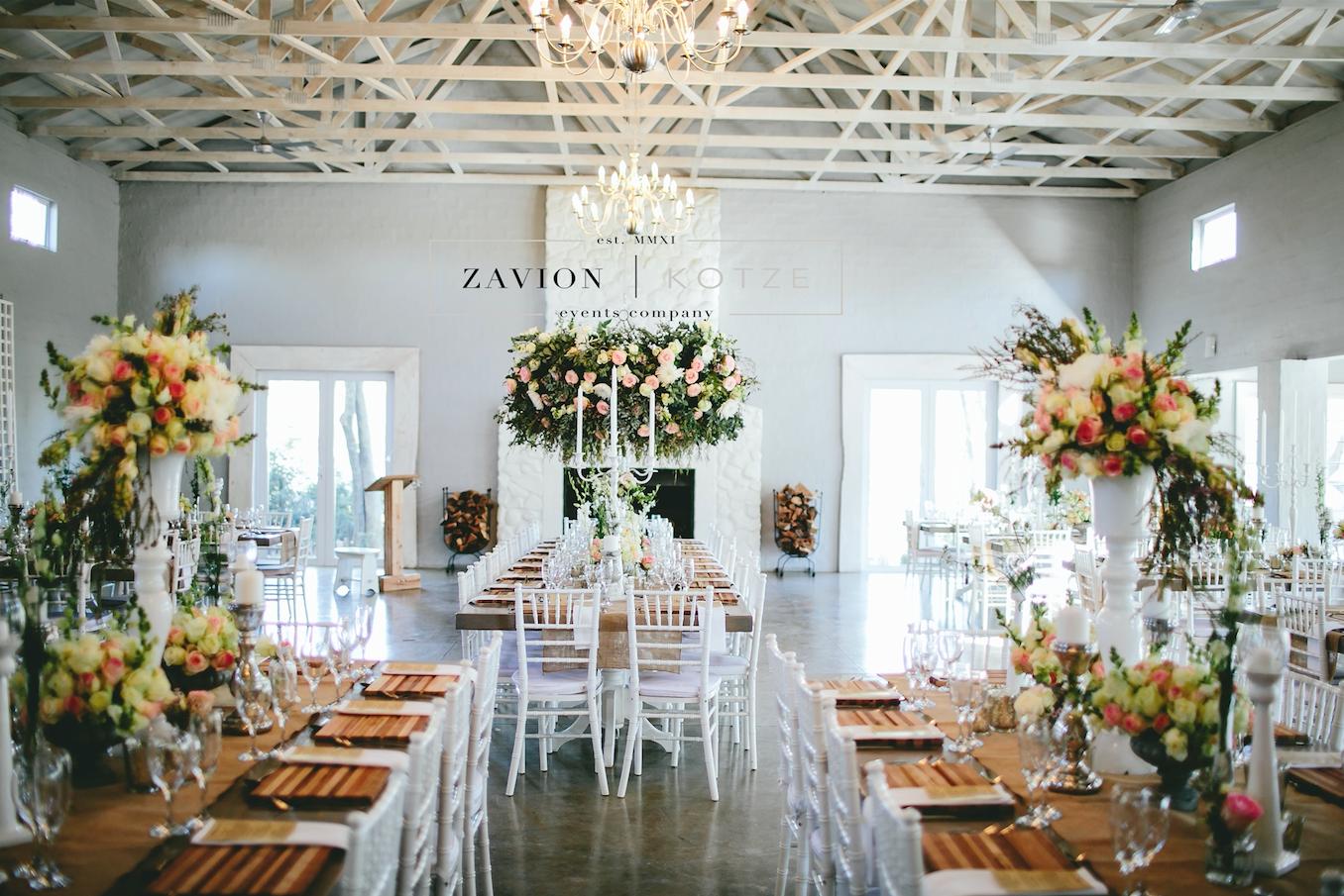Beautiful wooden tables, tiffany chairs, elegant wedding ...