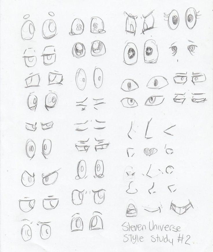 SKETCH DUMP: Steven Universe Style Study # 2 von InvaderIka.devian … auf @DeviantA
