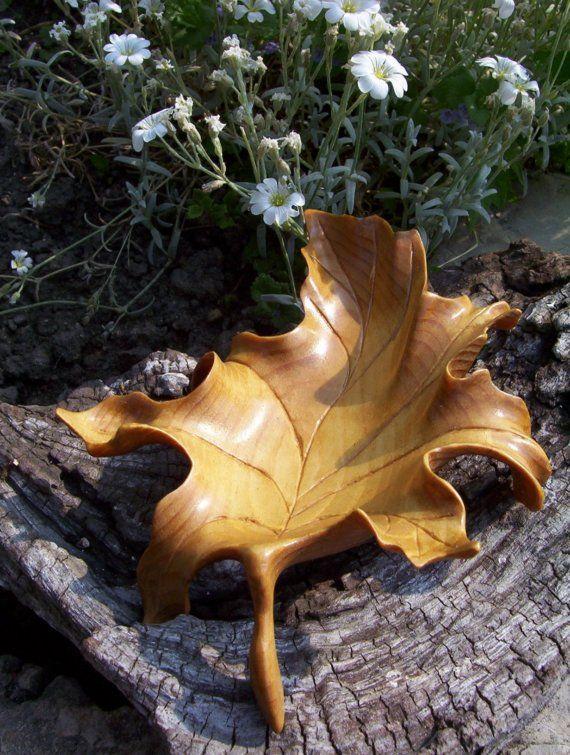 Carved wood leaf so cool d art pinterest