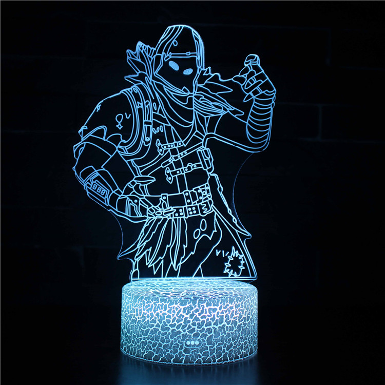 Fortnite Raven Skin 3d Illusion Lamp 3d Illusions 3d Illusion Lamp Night Light Kids