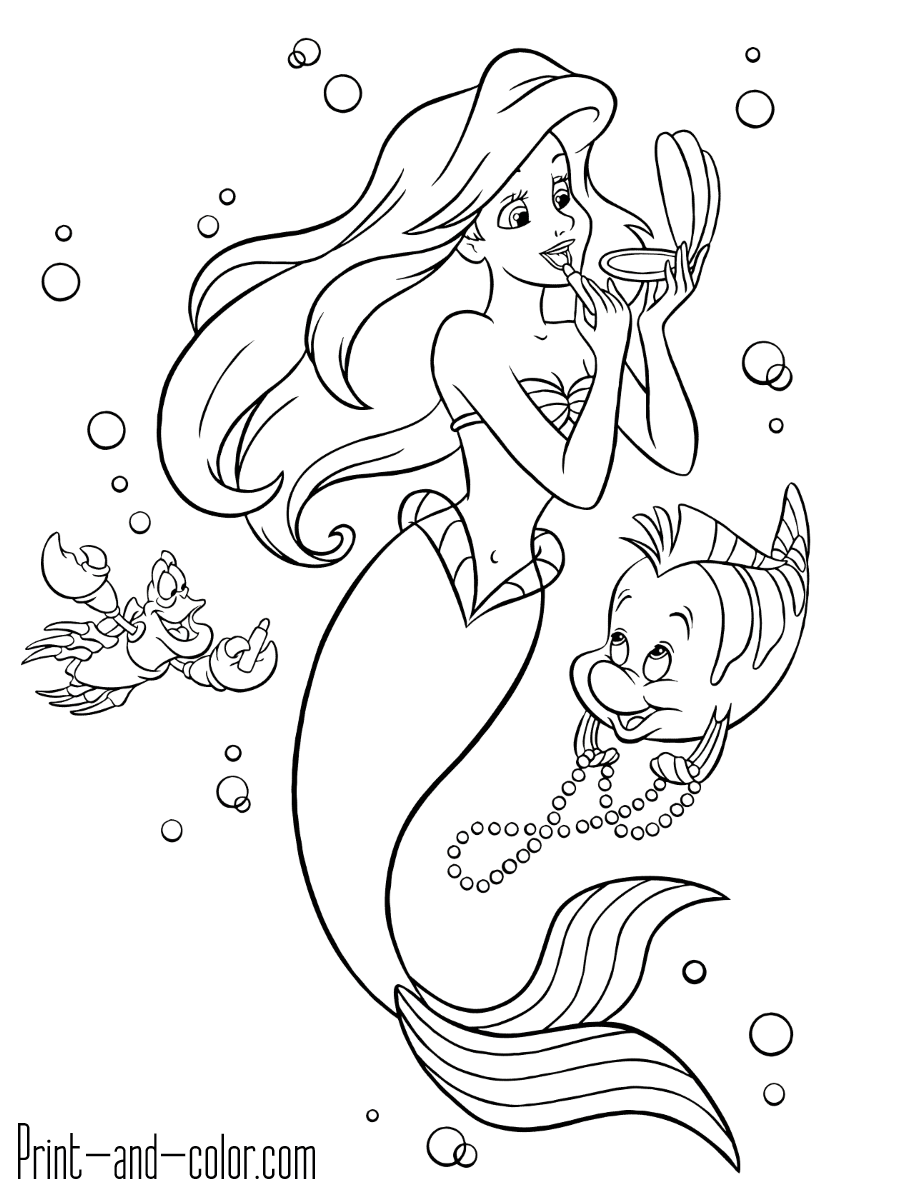 The Little Mermaid Coloring Pages Print And Color Com Ariel Coloring Pages Mermaid Coloring Pages Mermaid Coloring