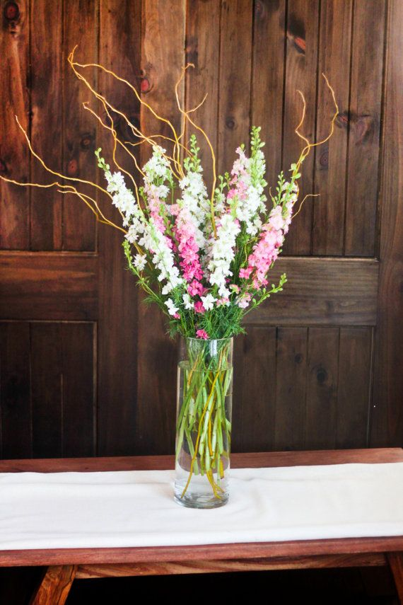For The Tall Centerpieces Except With Gladiolus Flowers