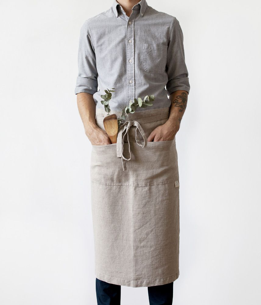 Blue apron telephone number - Natural Gar On Apron By Linen Tales